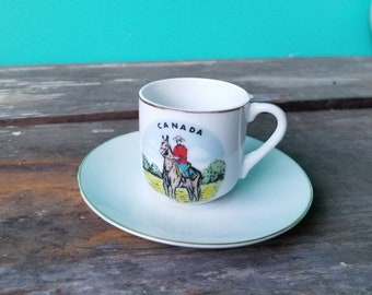 Souvenir of Canada - Mini Mountie Tea Cup - Made in Japan