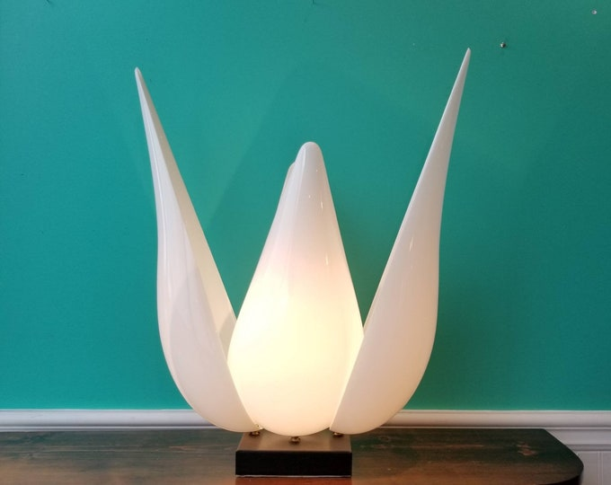 Featured listing image: Canadian Made 1970's Maison Rougier Tulip Lamp