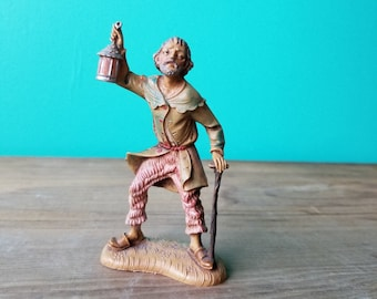 Vintage Fontanini Figurine - 128 B - Villager with Lantern