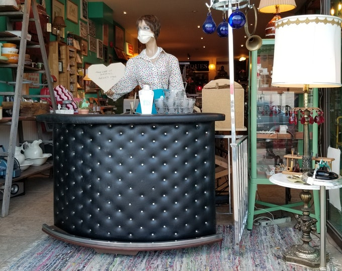 1970's Tufted Vinyl Mini Bar - Local Pick Up