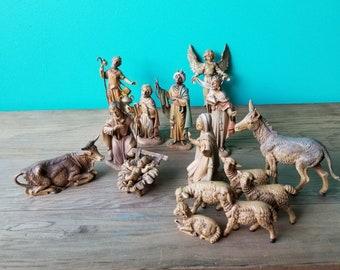 Vintage Fontanini Nativity Set Figurines - 1983 - Full Set