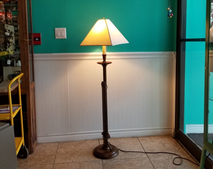 Wooden Adjustable Height Floor Lamp - Local Pickup Only