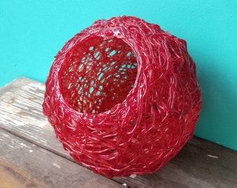Vintage Red Spaghetti Light Fixture