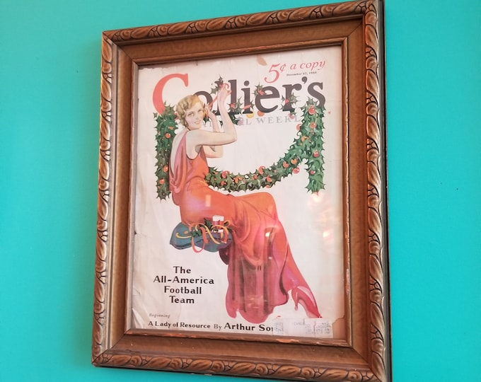 Framed Colier's National Weekly Magazine Cover December 1930
