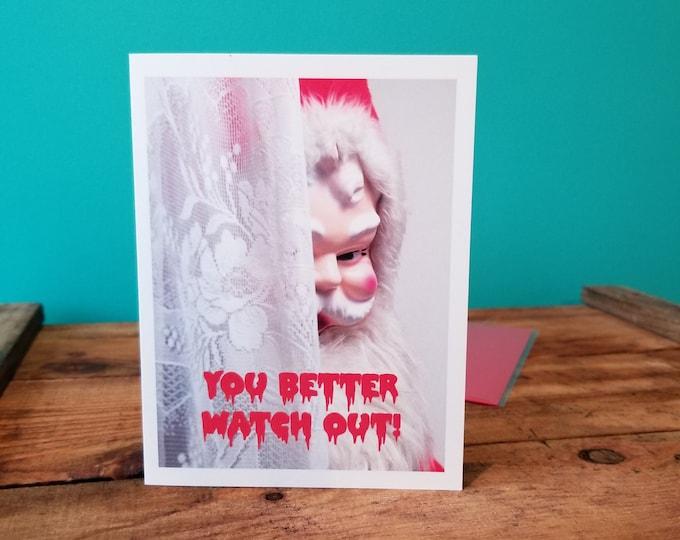 You'd Better Watch Out - Smitten Kitten Christmas Card