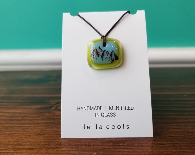 Mountain Range - Handcrafted Glass Necklace - Leila Cools