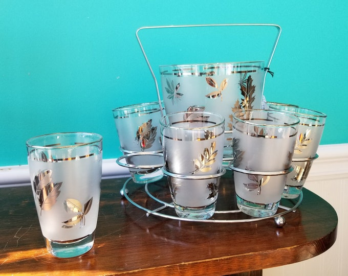 1950s Libby Glass Barware Caddy