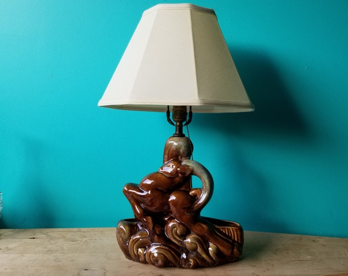 Midcentury Royal Haeger TV Lamp- Gazelle