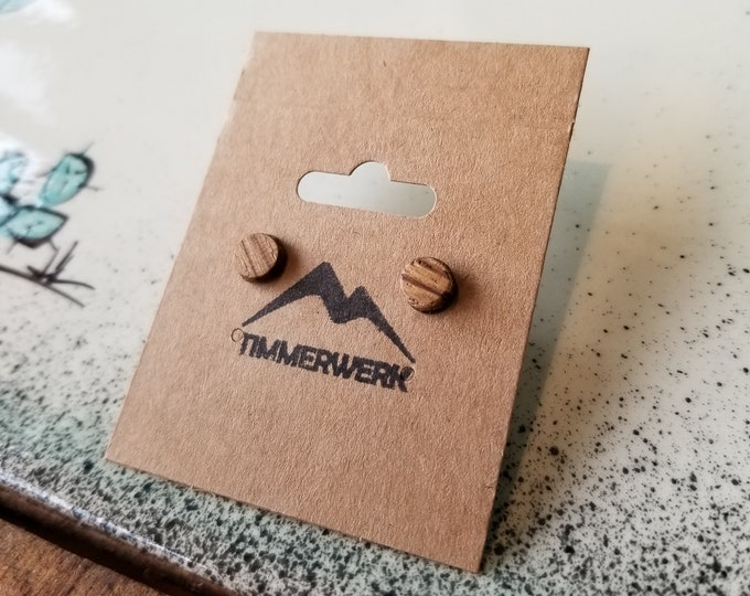 Handcrafted Wooden Earrings - Timmerwerk