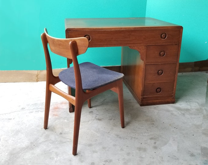 Art Deco Style Wooden Writing Desk - Local Pick Up