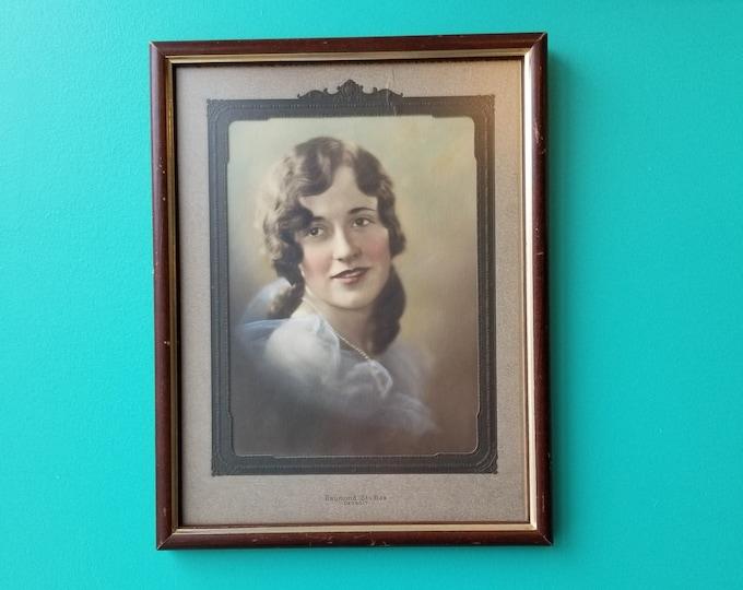 Antique Colourized Photo Portrait