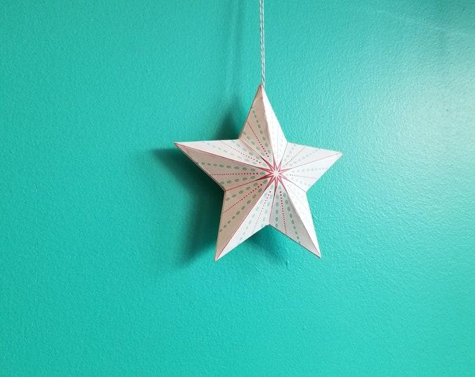 Pop Out Paper Christmas Ornament Kit
