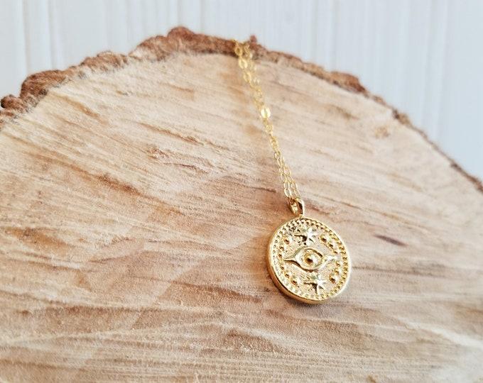 Evil Eye Necklace - 14k Gold-Filled