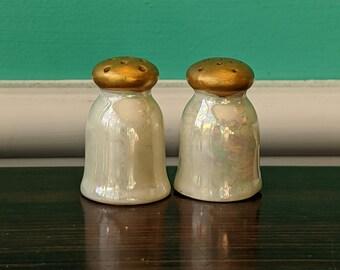 Gold Mushroom Salt and Pepper Shaker Set