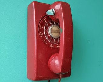 1960s Red Rotary Phone's