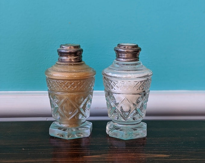 Sterling Lid  Salt and Pepper Shaker Set