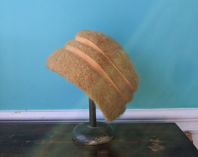 1940s Angora Gambler Hat