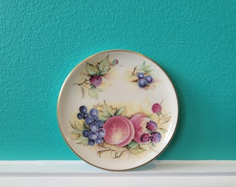 Butter Pat Plate - Staffordshire Orchard Glory