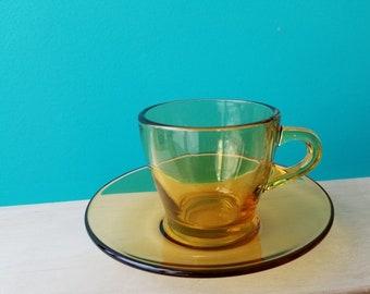 Amber Glass Espresso Set - Serves 15