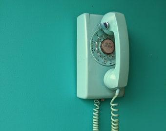 1965 Seafoam Green Rotary Phone