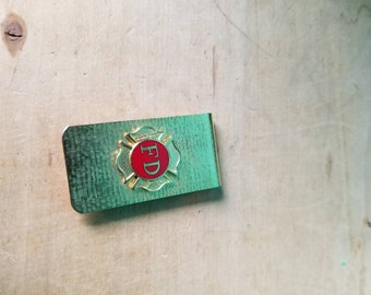 Fire Department Vintage Money Clip
