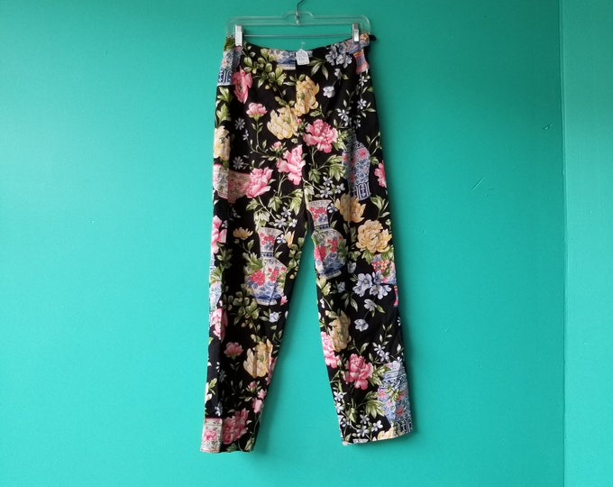 Floral High Waisted Summer Pants