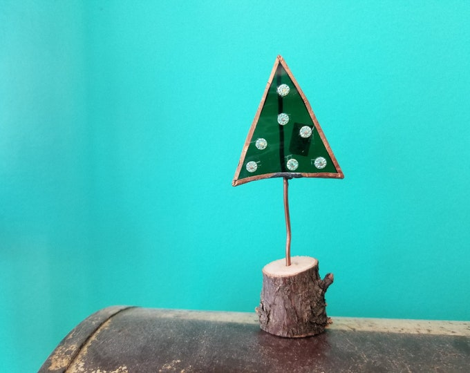 Stained Glass Christmas Tree Desk Ornament - Maggie Groves