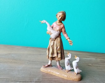 Vintage Fontanini Figurine - 245 Belinda with Geese Villager