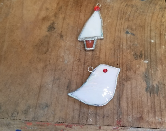 Stained Glass Ornament Set - Maggie Groves