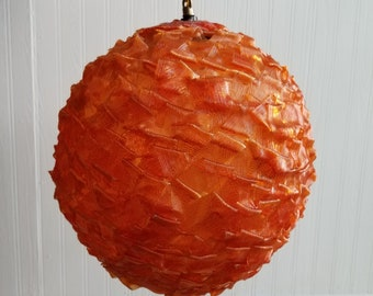 Warm Orange Spaghetti Pendant Lamp