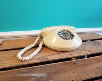 1980's Pancake/UFO Northern Electric Rotary Phone