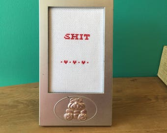 Crassstitches -SHIT - Handmade in Toronto