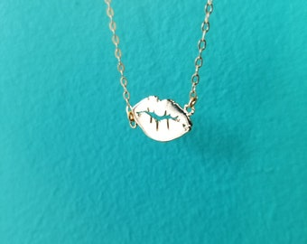 Hot Lips Tiny Necklace - 14k Gold-Filled
