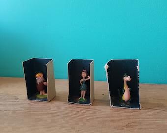 Original Flintstones Barney, Betty, and Dino Figurines - Marx - 1962