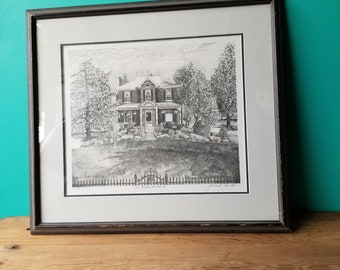 Janice Tanton Signed Art Print -The Pascoe Homestead - 1/10