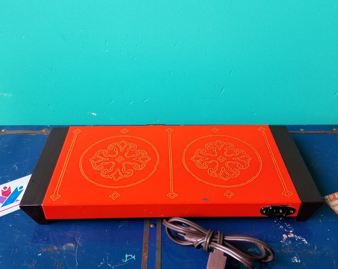 Bright Orange Vintage Warming Tray