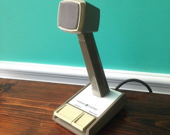 Vintage General Electric Shure Bros inc. Dispatcher Microphone