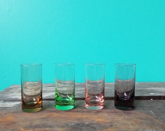Set of Four Coloured Shot Glasses