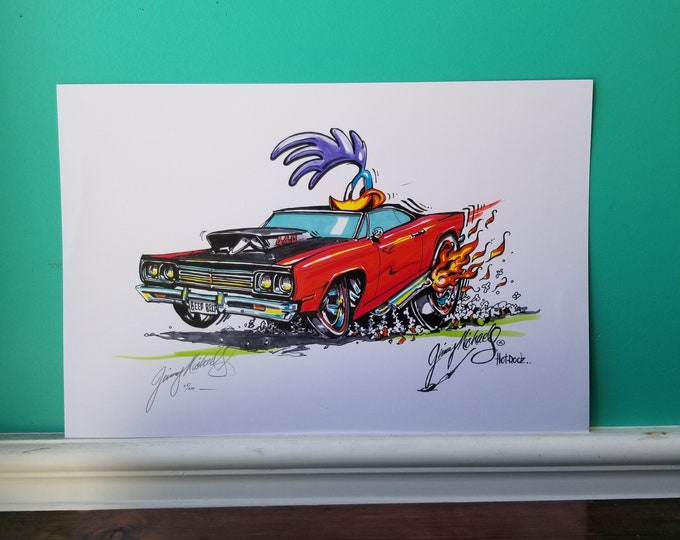 Jimmy Michaels Original - 69 Plymouth Road Runner Hot Rod Art - Print