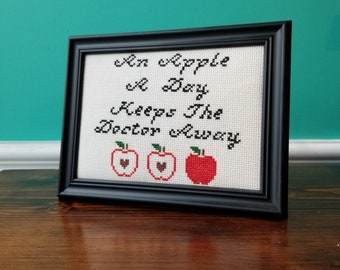 An Apple A Day - Crassstitches