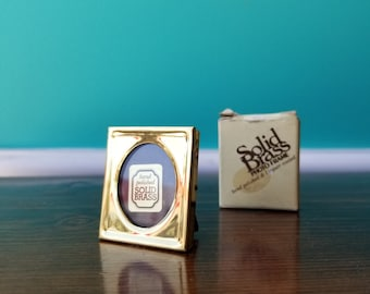 Tiny Brass Photo Frame - New Old Stock