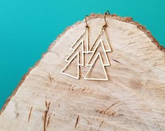 Bold Geometric Earrings - 14k Gold Filled - Fierce Deer