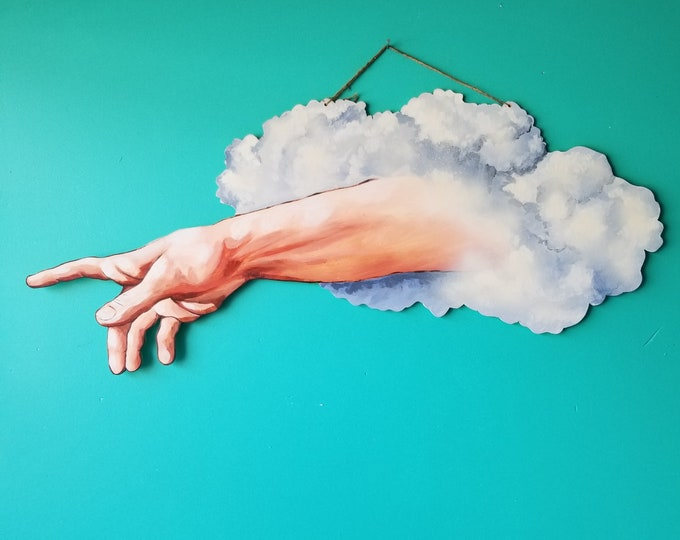 Hand of God - Hand Painted Art