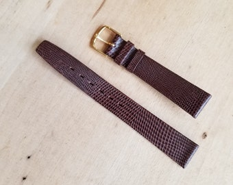 Brown Leather Watch Strap - 15