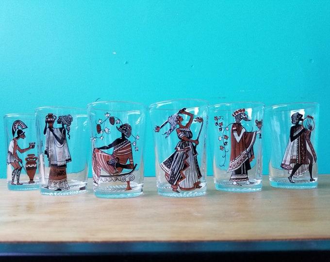Ancient Greece Themed Juice Glass Set