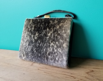 Vintage Seal Skin and Leather Handbag - 1950's - Excellent Condition