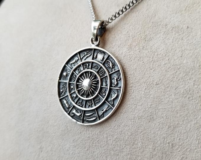 Sterling Zodiac Pendant - 2SBeachglass