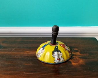 Vintage Tin Clown Noisemaker - Kirchhof Newark NJ