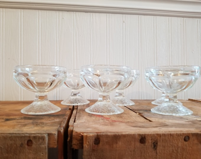 Set of Six Dainty Dessert Dishes