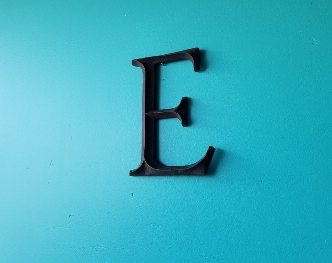 Solid Brass Salvaged Metal Signage Letter E